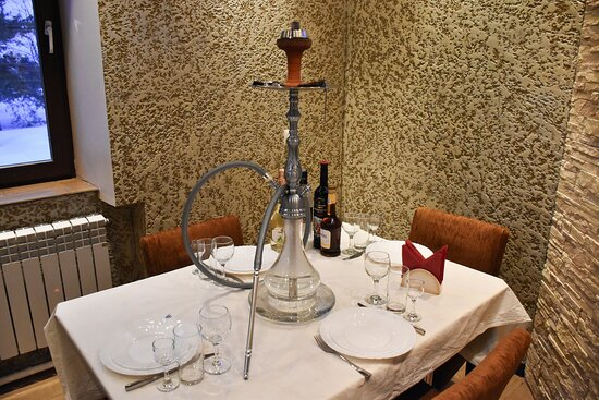VIP room :plasma TV,,window, hookah.Capacity:up to 10 people. The cost of booking is 350 rubles/hour