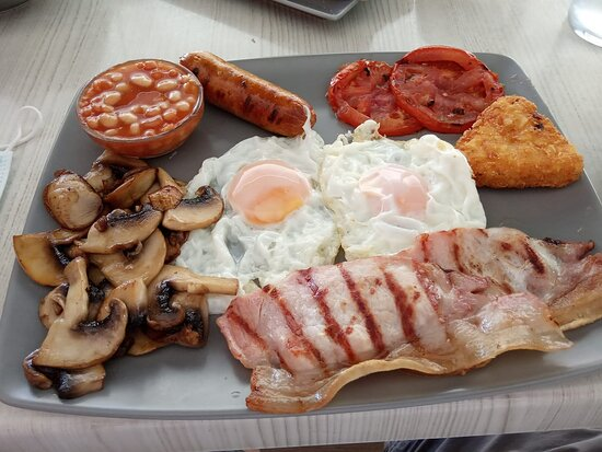 A wonderful 'Full English' breakfast. Perfectly cooked and very reasonably priced.