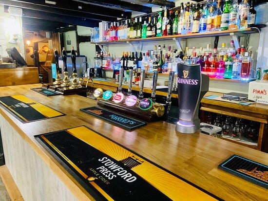 Plenty of drinks at the bar