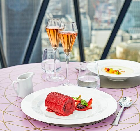 Searcys signature summer pudding at The Gherkin