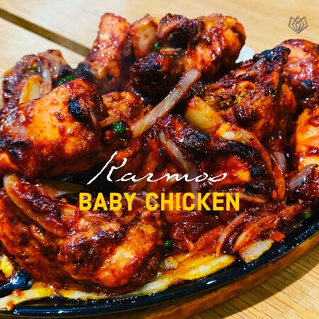 Baby chicken on the sizzler, finger licking good available as half or full  chicken