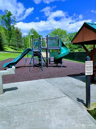 New Children's playground at Bush campground at Loyalhanna lake