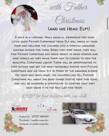 Santa Claus limo ride