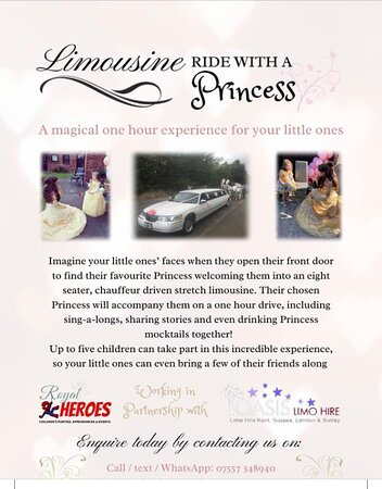 Limousine ride with a princess