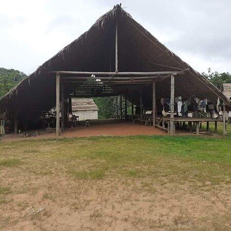 Amazonas Region, Peru: Las malokas . Es un centro de consentracion , para las persona que decean hacer los ritualez , ceremonias .