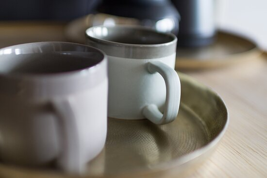 Poor-over coffee and herbal teas in all our QO rooms.