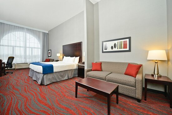 King Suite includes a sofa bed and second televison