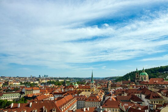 View of Prague's Lesser Quarter from The Palace