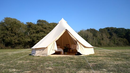 Close up shot of our 5m Bell Tent
