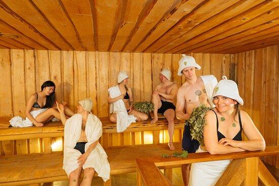 Main parilka (steam room) in the Public Banya