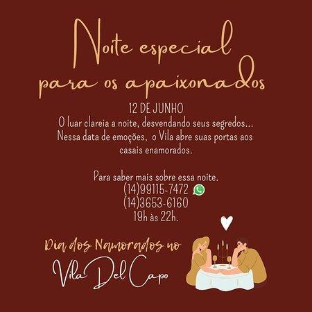 Sao Pedro, SP: Dia dos namorados no Vila Del Capo