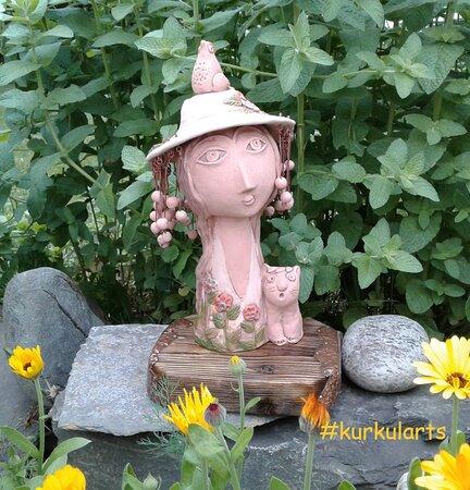 Vierge. Sculpture en argile. Céramique de Fedir Kurkchi