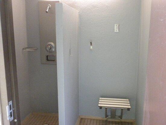 private individual unisex shower stalls