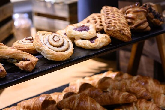 Delicious sweet pastries for breakfast at Leopold Hotel Oudenaarde
