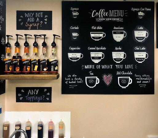 Our menu board