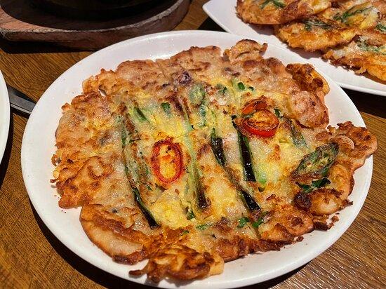 Seafood Pancake with Green Onion