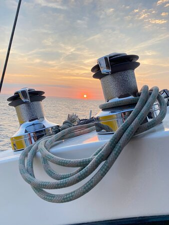 a nice sunset at sea
