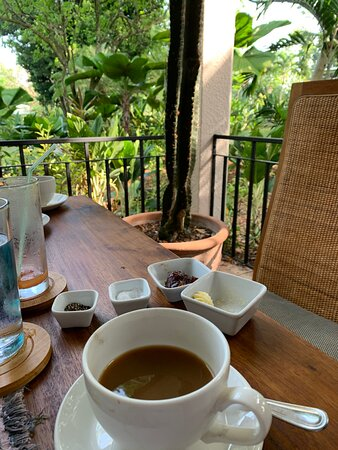 View during breakfast