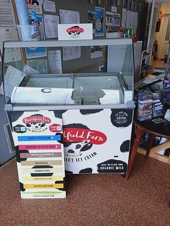 Marshfield ice cream variety to choose from.