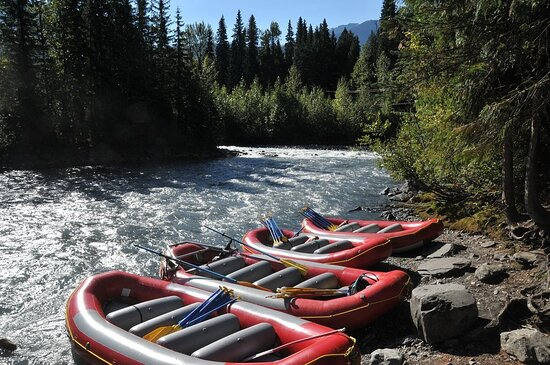 Bright Red and ready when you are.  We've  invested in multiple raft sizes to take full advantage of different water flows and still the most photogenic rafts on the river.  So inviting!