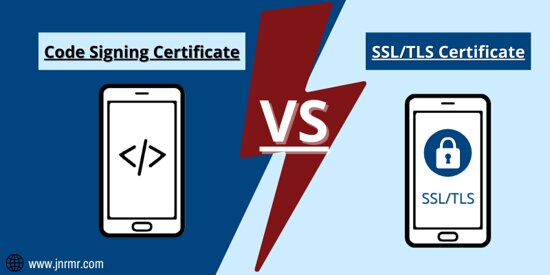 New Delhi, India: A code signing certificate is also known as a software signing certificate which ensures the rightfulness of software, code, application, and executables. SSL/TLS (Secure Socket Layer/ Transport Layer Security) Certificate is the most known Digital certificate that is used to have a secured connection between the Web server and Web browser.  Learn More @ https://www.jnrmr.com/blog/code-signing-certificate-vs-ssl-certificate-all-you-need-to-know/