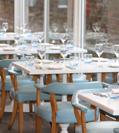 Courtyard Dining - Whether its rain or shine, with our retractable roof can be used throughout the year.