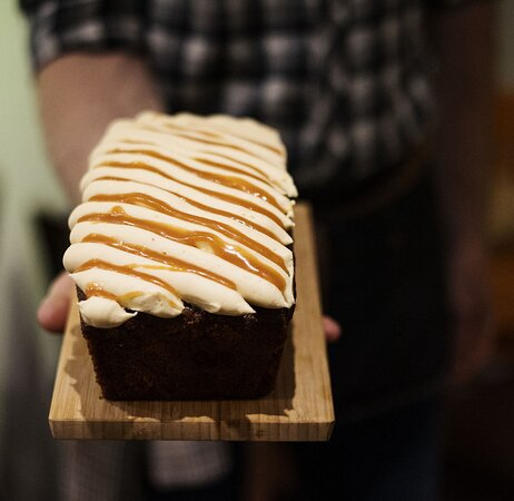 Luxurious cakes and bakes produced locally - unique to Bean & Bud.