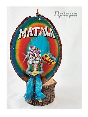 My wise man in miniature , inside a coconut shell. Big collection of similar creation's