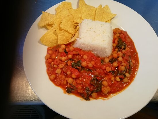 Spinach, Tomato and Chick Pea - one of our Vegan and Gluten Free Specialities