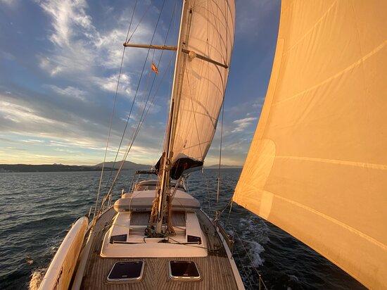 Sunset sail Watersports Training