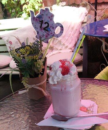 Strawberry milkshake for me