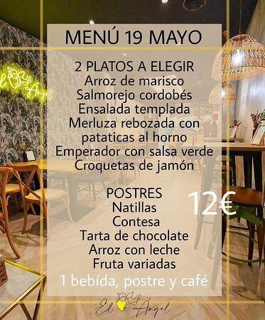 Menú de lunes a viernes...delicioso! 2 platos a elegir, postre y bebida 12€