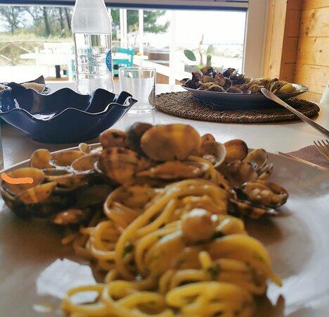 Spaghetti alle vongole super cremosi buonissimi!!