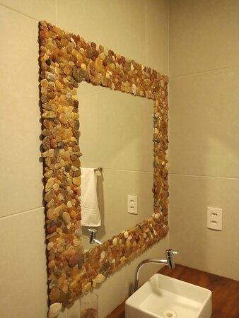 Banheiro suite Varanda