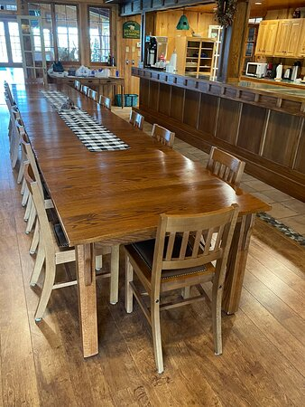 Platte, SD: Dining area.  Cook your own in superbly equipped interior or exterior kitchen