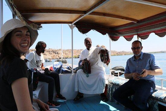 On the way back from Aswan met Joseph a wonderful Nubian salesman.