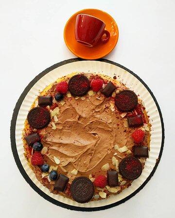 Sernik waniliowy z czekoladową chmurką