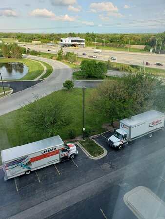 Major highway  back of hotel