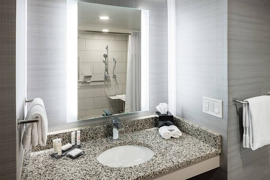 King Suite Accessible Bathroom - Roll-In Shower