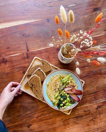 Vegan humus salade!
