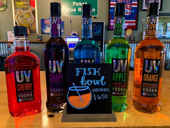 Plainwell, MI: Stop in and try one of our many flavors of fishbowls!