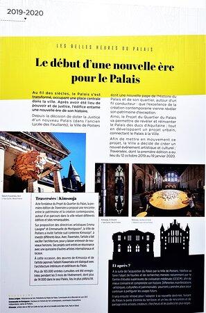 Renaissance d'un lieu millénaire extraordinaire, le public accède petit à petit dans ce palais de 6.000 m2 aux 380 salles, lieu aux origines Mérovingienne.