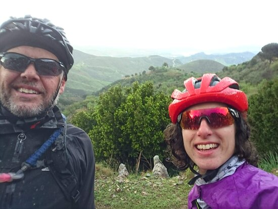 Our MTB guides, Wayne and Chiara on an exporation ride.