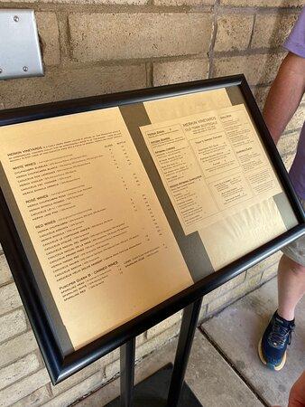 Sidewalk menu