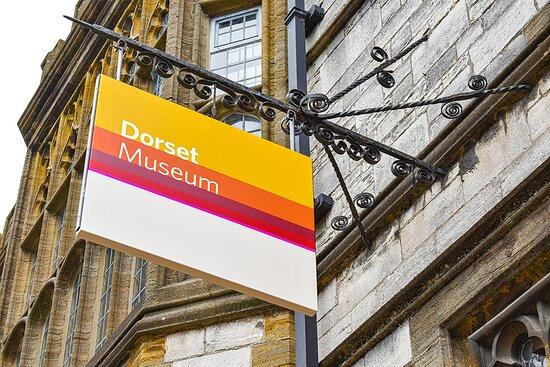 Dorchester, UK: Dorset Museum Sign