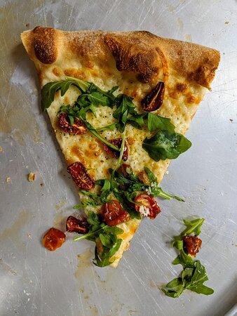 New York Style Slice with Roasted Grape Tomato & Baby Arugula