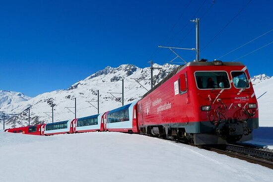 Glacier Express Panoramic Train Round Trip Private Tour from...