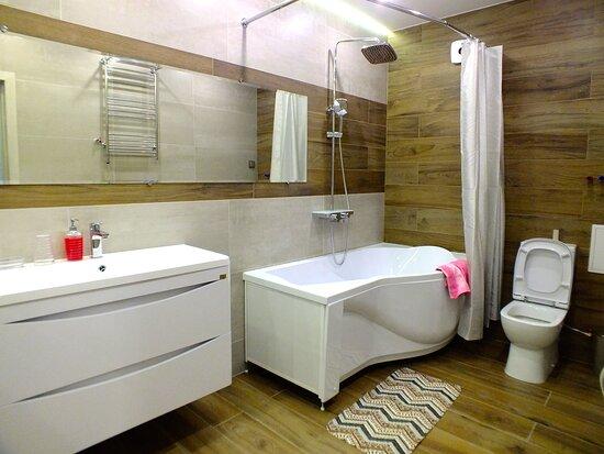 Bathroom, washing machine, air-condition.