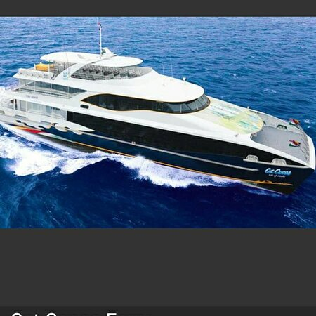 Mahé, Seychellen: Catcoco just left mahe jetty to praslin