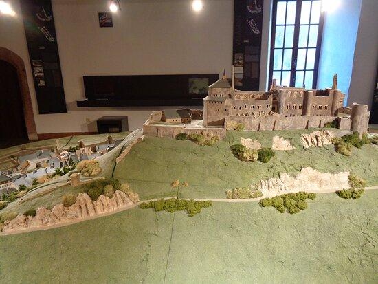 Clervaux, Luxembourg: Miniature of Vianden Castle before restoration